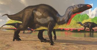 カンプトサウルスのイラスト