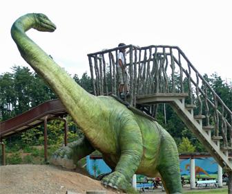かつやま恐竜の森の遊具