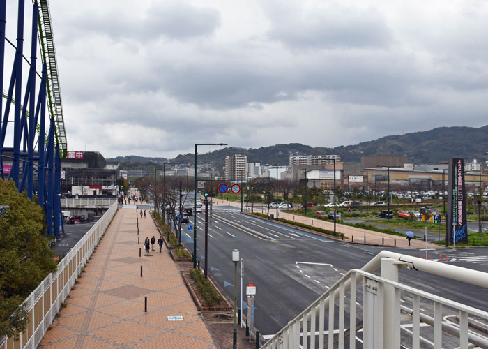 スペースワールドとイオンモール、いのちのたび博物館の交差点