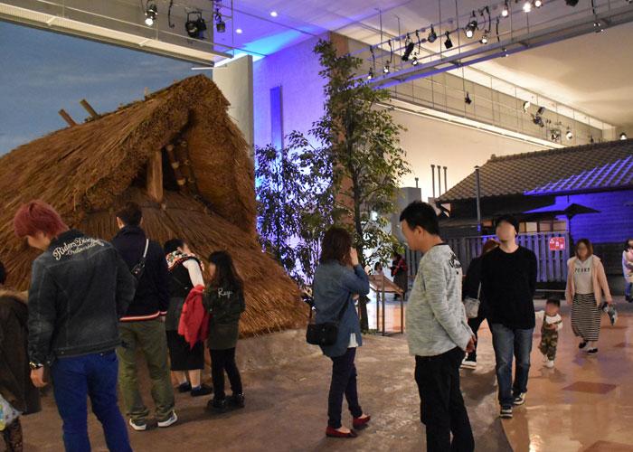 北九州市立いのちのたび博物館の歴史ゾーンにある竪穴式住居