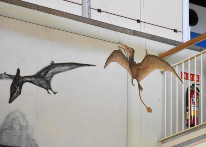 京都市青少年科学センターの翼竜ランフォリンクスの復元模型