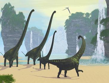 マメンチサウルスのイラスト