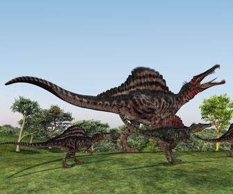 スピノサウルスのイラスト