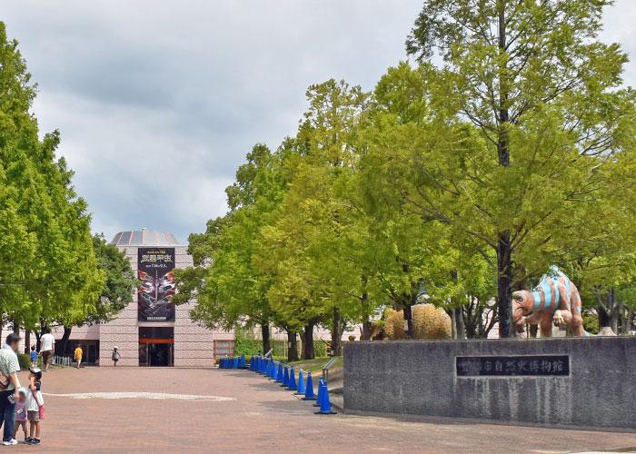 豊橋市自然史博物館と野外恐竜ランド