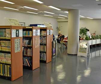 豊橋市自然史博物館の図書コーナー